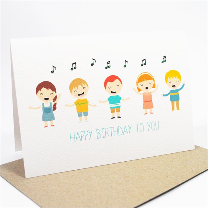 Happy Birthday Cards That Sing Happy Birthday Card Kids Singing