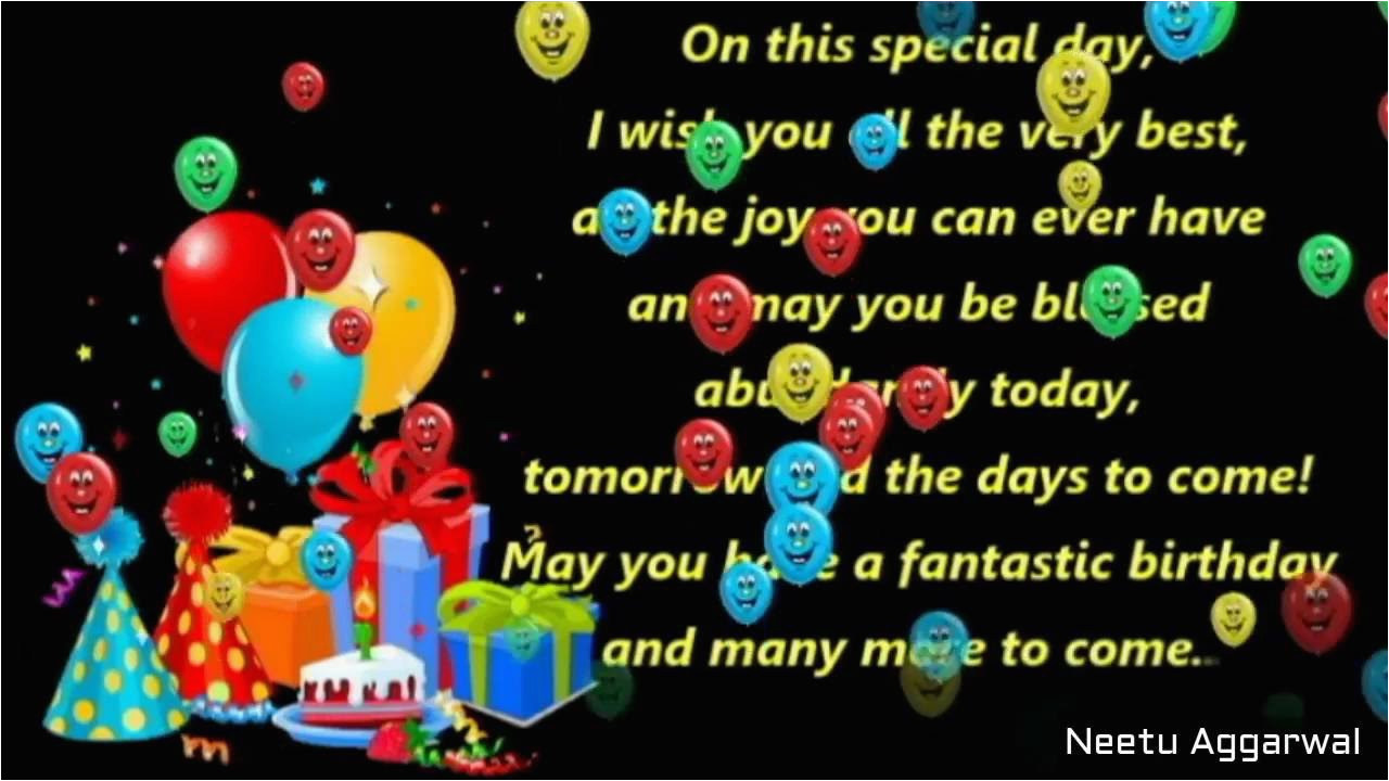 Happy Birthday Cards With A Song Wishes Greetings Blessings Prayers Quotes