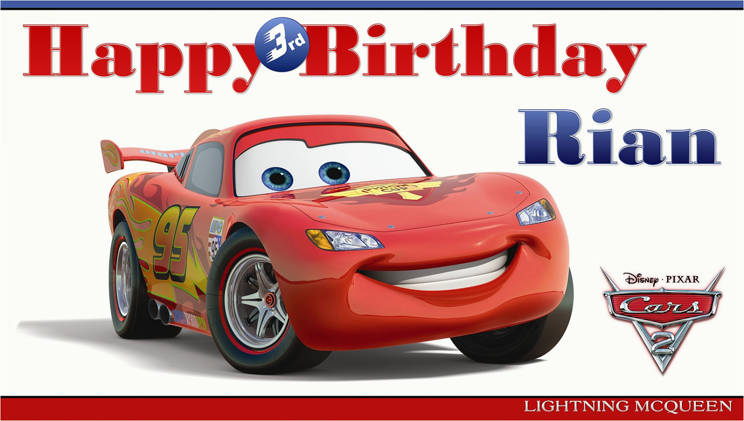 8 best images of cars 2 printable birthday cards disney