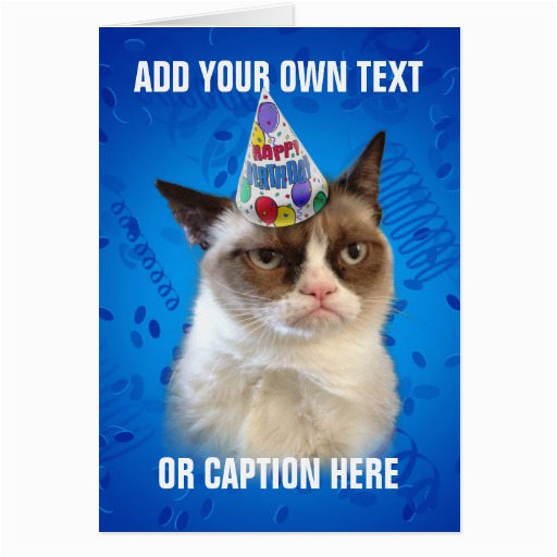 Happy Birthday Cards With Cats Grumpy Cat Quotes Quotesgram