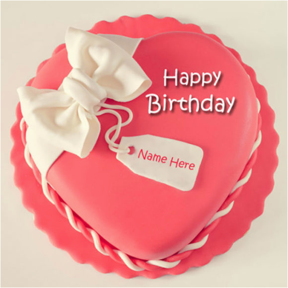 Happy Birthday Cards With Name Edit Cake Images For Girlfriend Pics And Wallpaper