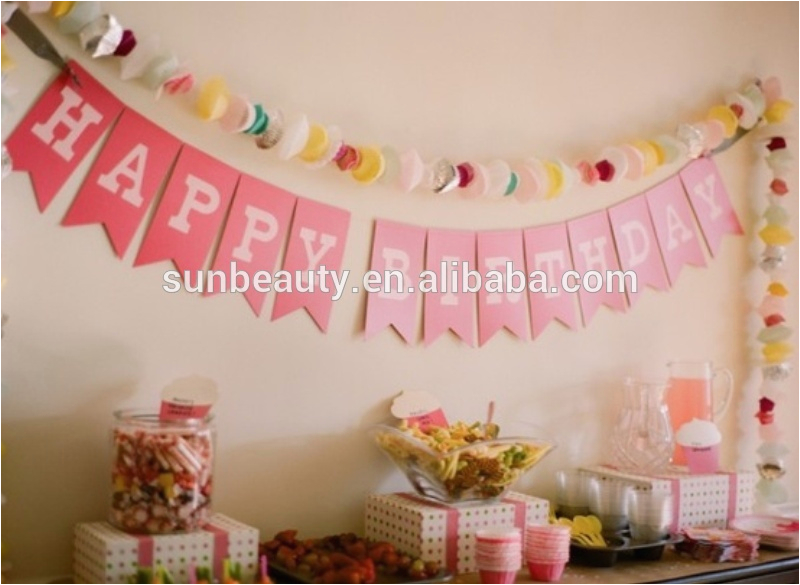 Happy Birthday Decoration Items Letter Banner Happy Birthday Decoration Items View