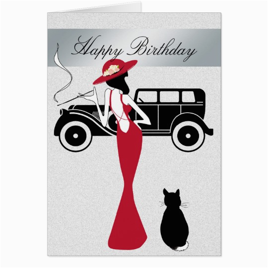 Happy Birthday Diva Cards Happy Birthday Diva Card Elegant Woman Zazzle Com