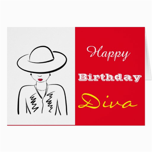 happy birthday diva greeting card 137744308151231032