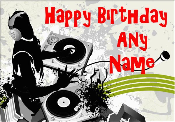 dj birthday card 3178 p