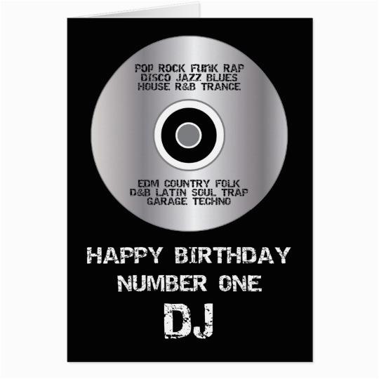 Happy Birthday Dj Card Happy Birthday Number 1 Dj Card Zazzle Com