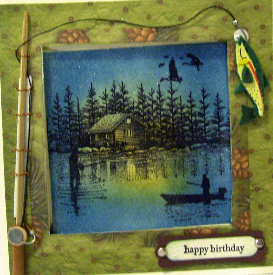 Happy Birthday Fishing Cards Simply Cards by Maria Happy Birthday A Fishing Card