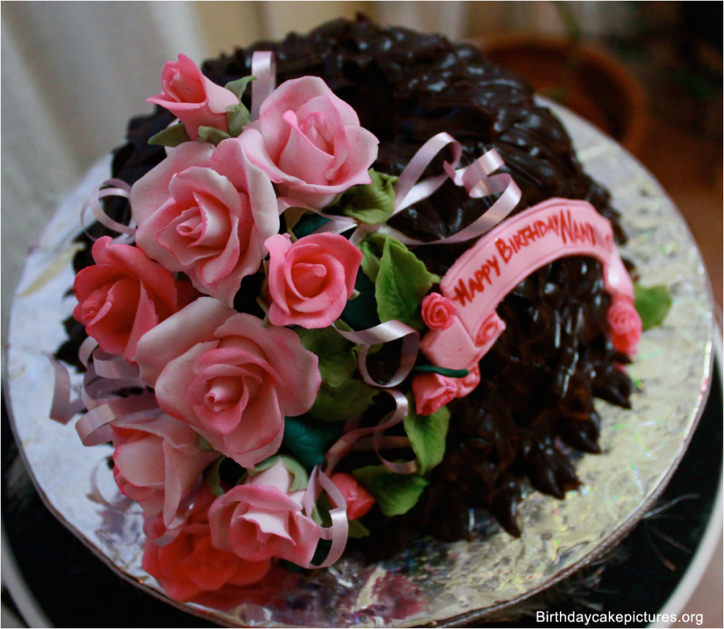 Happy Birthday Flowers And Chocolates Chocolate Cake With Pictures
