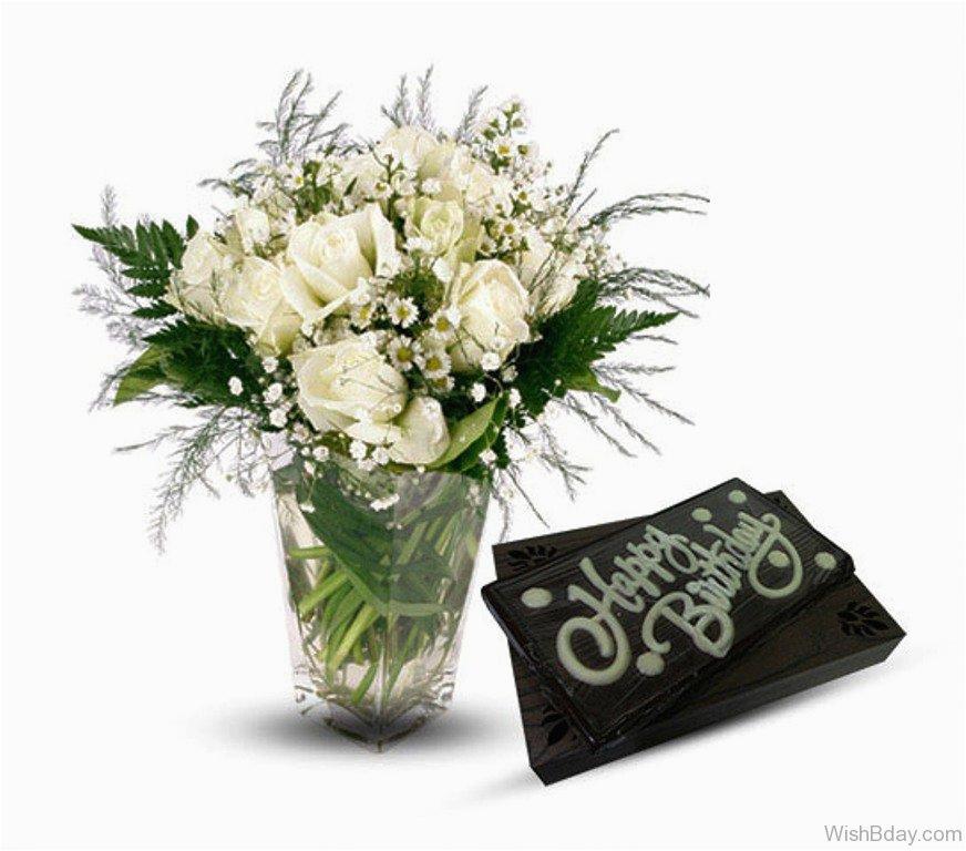Happy Birthday Flowers Buke 64 Wishes With Bouquet
