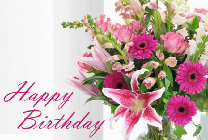 20 beautiful happy birthday flowers images
