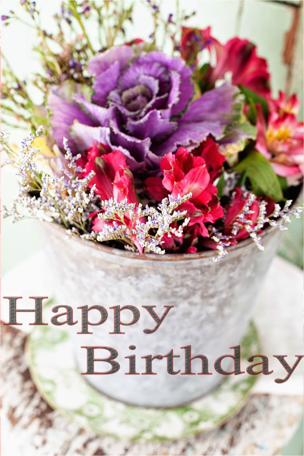 happy birthday cake and flowers images greetings wishes