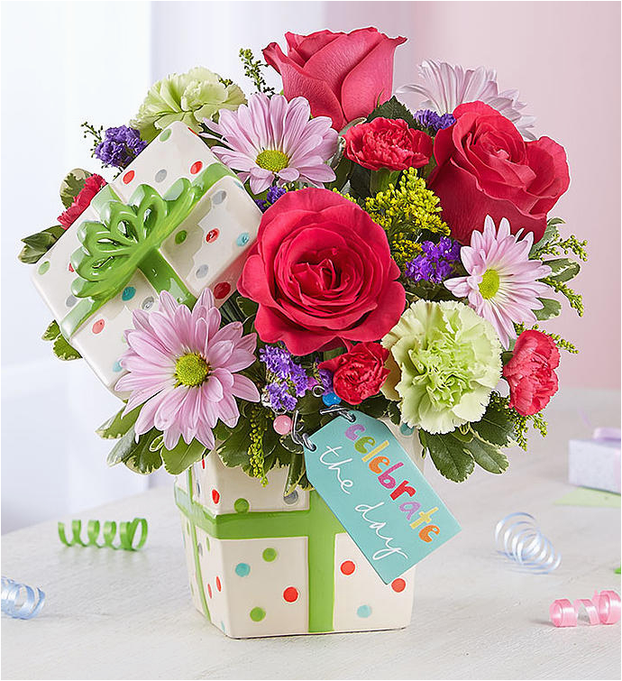 Happy Birthday Flowers In Box Birthday Gifts Delivered Birthday