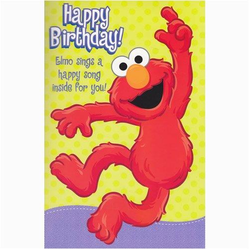 Happy Birthday From Elmo Singing Card Elmo Birthday sound Card Birthday Cards