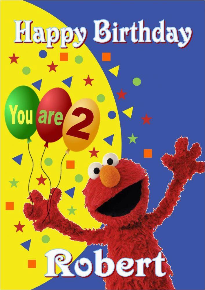 personalised elmo birthday card 177 p