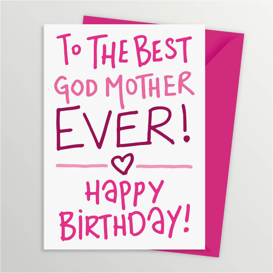 Happy Birthday Godmother Cards Card For By A Is Alphabet
