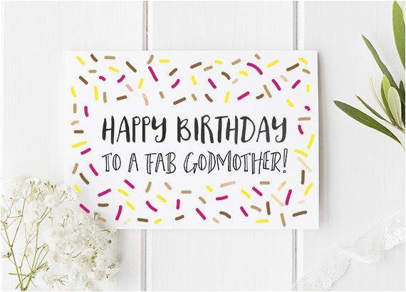 birthday card godmother birthday card