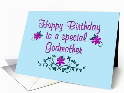 happy birthday godmother purple flowers 1363488