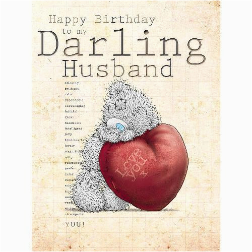 husband large birthday card me to you