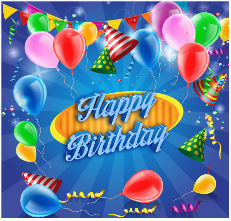 Happy Birthday Greetings Card Free Download 10 Vector Psd Celebration Greeting Cards