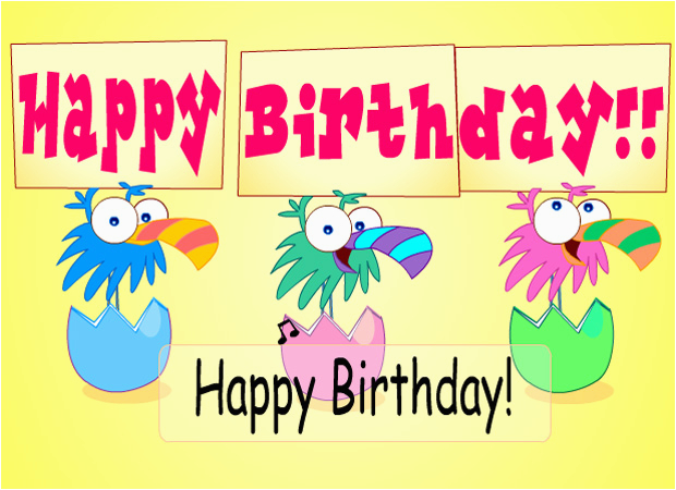 Happy Birthday Interactive Card Ecards Birthday Birds