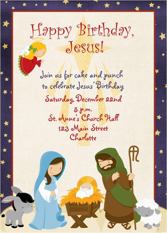 jesus birthday christmas party