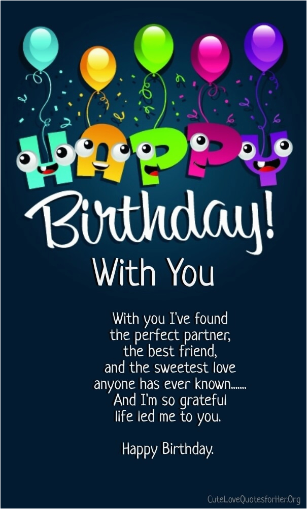 12 happy birthday love poems for her him with images