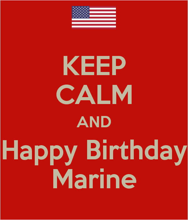 keep calm and happy birthday marine 2