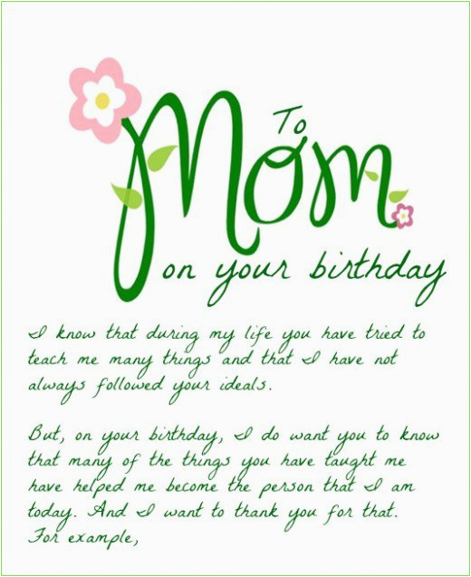 Happy Birthday Mom Card Sayings Wishes For Funny Cards
