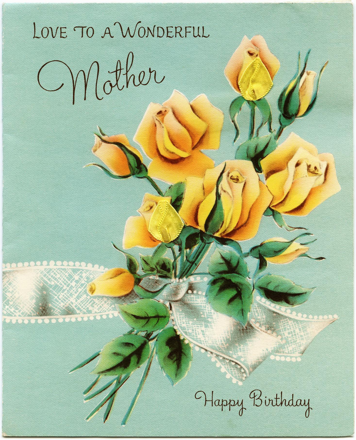 vintage mother 39 s birthday greeting card old design shop blog