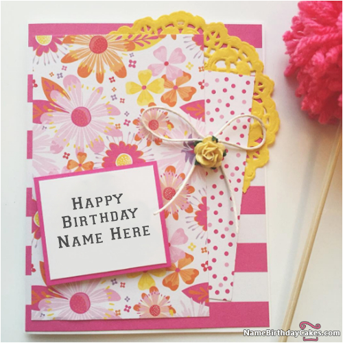 Happy Birthday Online Cards With Name And Photo Editor 101