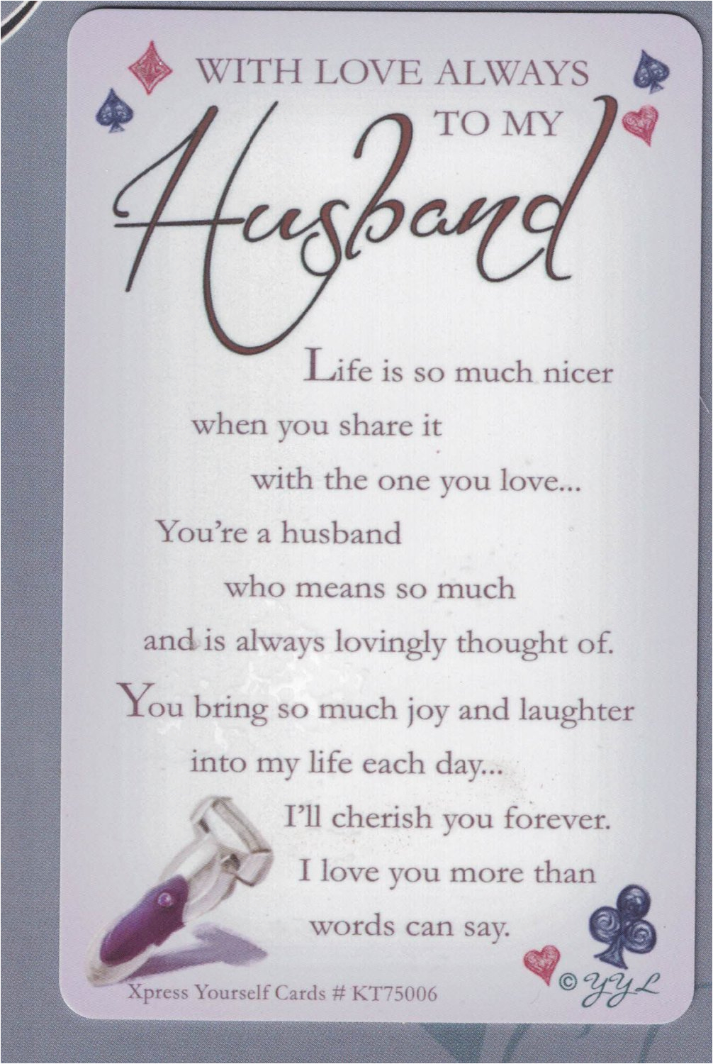 Happy Birthday To My Husband Greeting Cards Card
