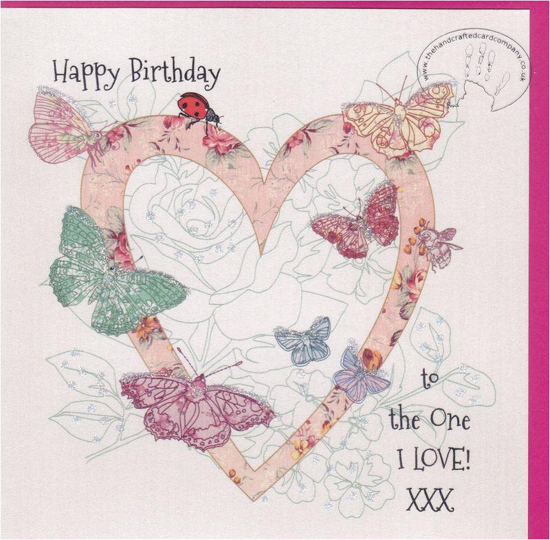handmade butterflies to the one i love birthday card