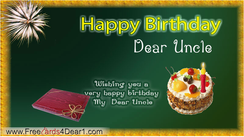 Uncle Birthday Card Free Happy