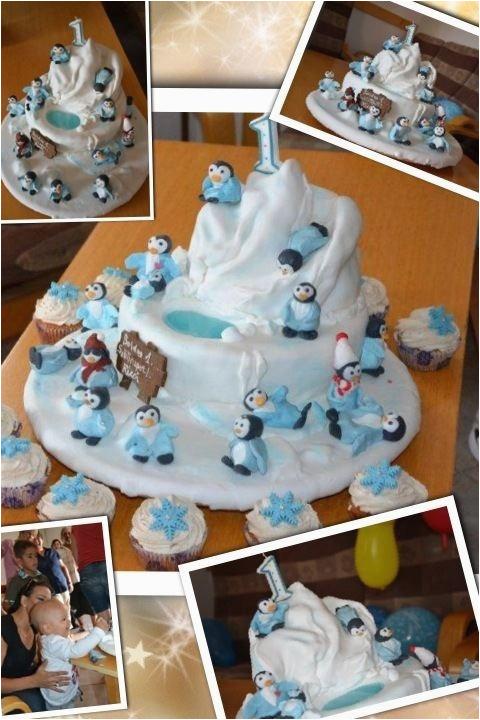 Happy Feet Birthday Decorations 1st Birthday Boy Cake Happy Feet