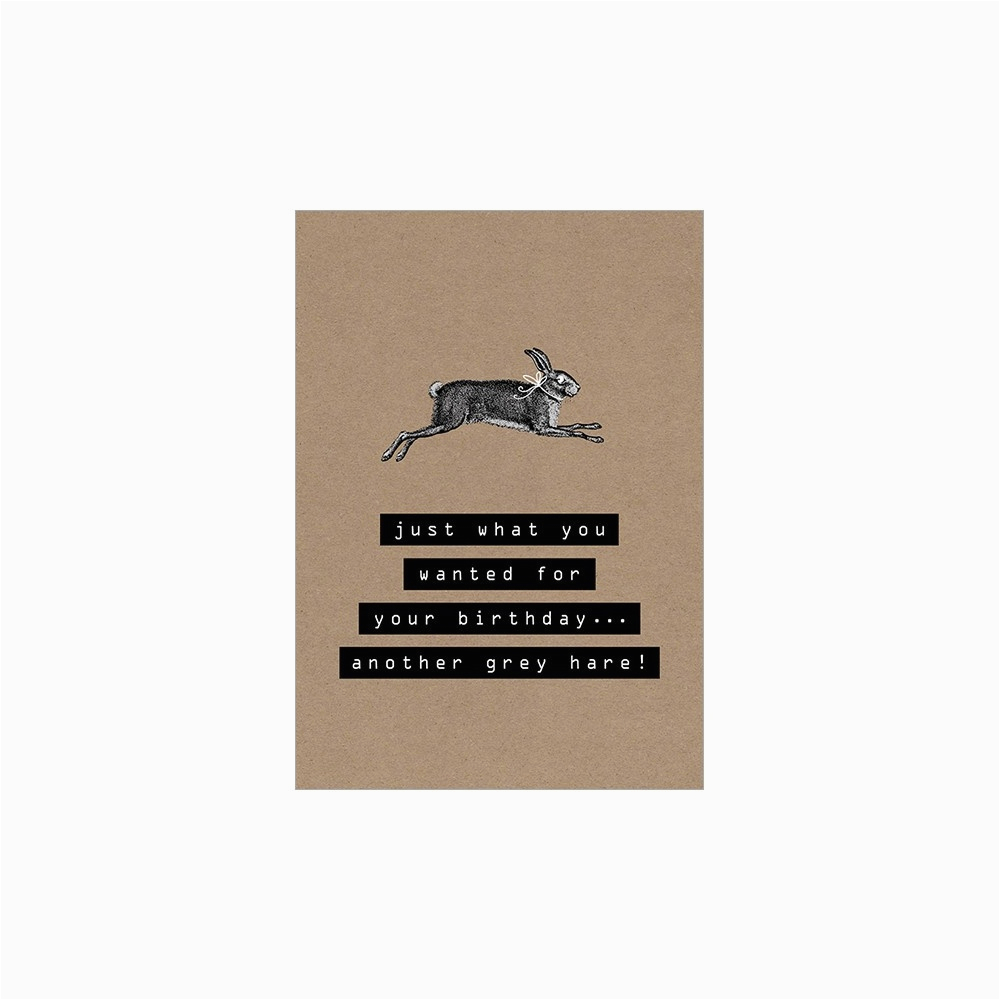 another grey hare birthday card p4466