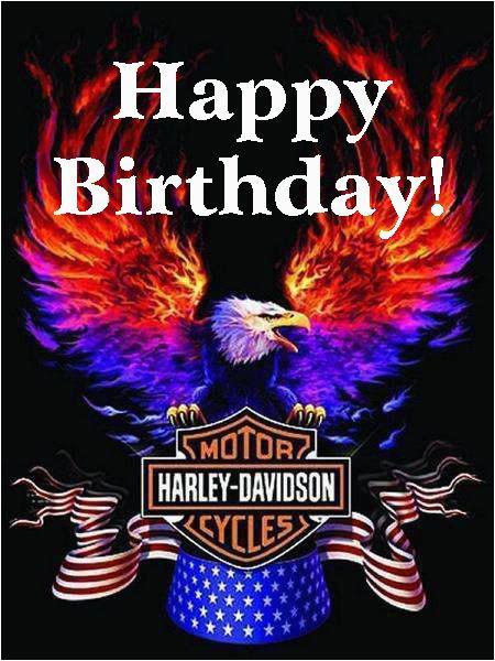 Harley Davidson Birthday Cards for Facebook Happy Birthday Harley Davidson Eagle Verjaardagspins