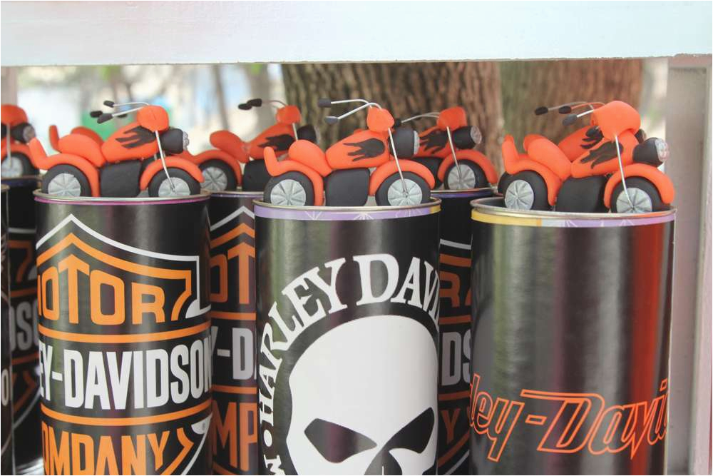 Harley Davidson Birthday Decorations Theme Party Operation18 Truckers