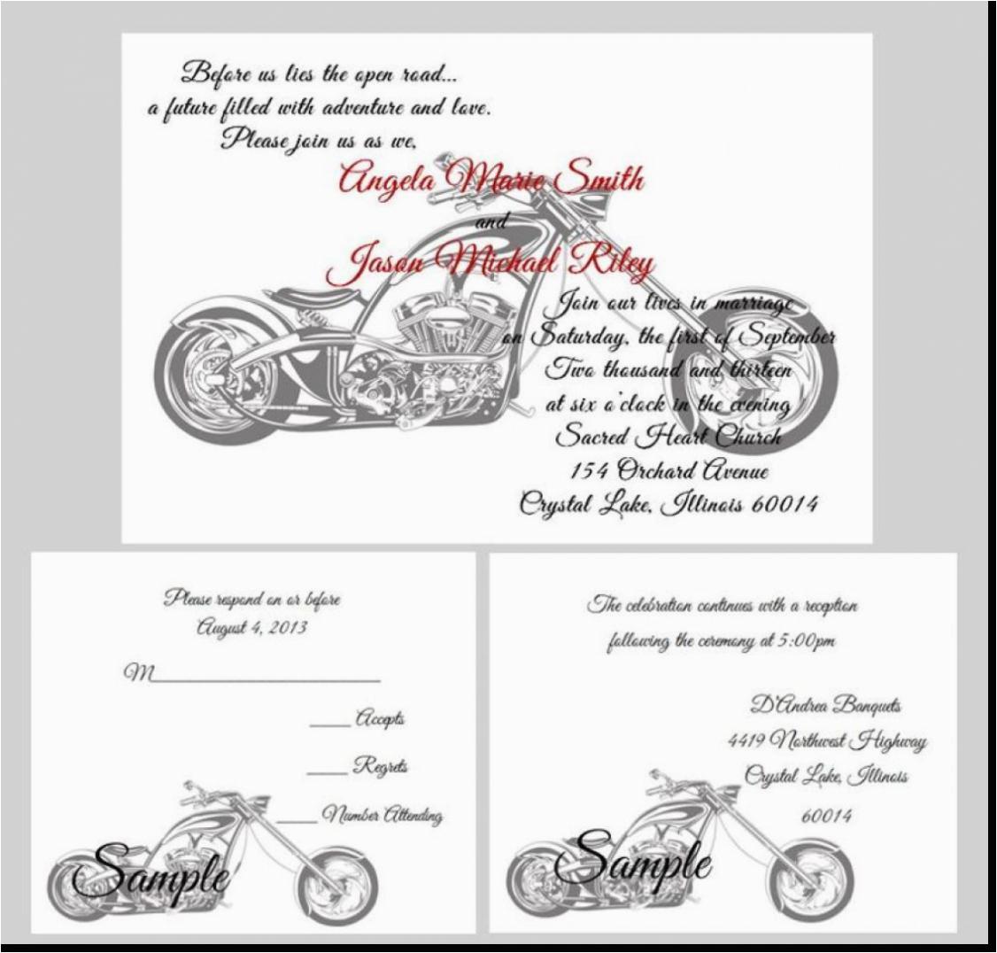 Harley Davidson Birthday Party Invitations Wedding Invitation Templates