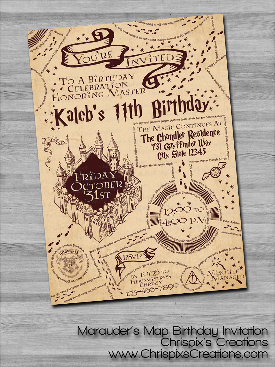 Harry Potter Birthday Invitations Free Ideas