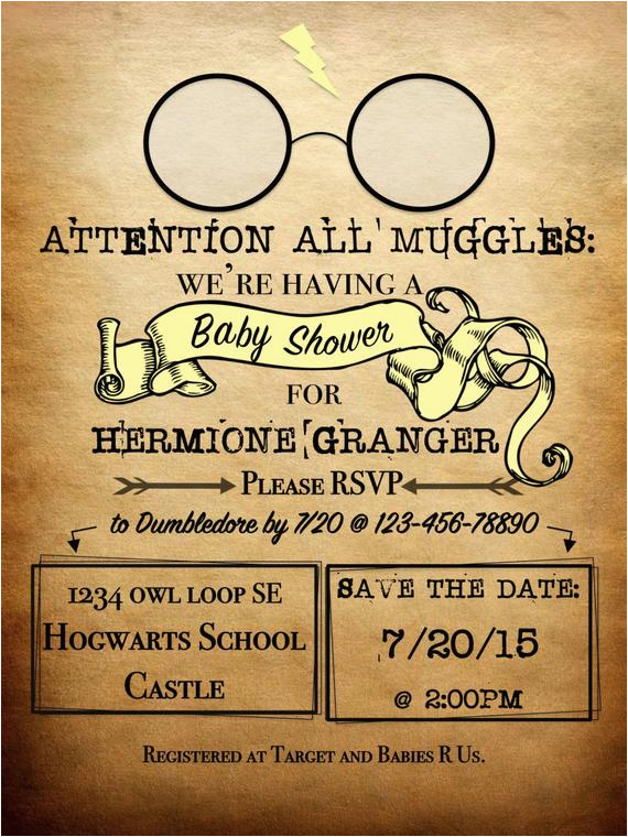 Harry Potter Birthday Invitation Cards Personalized Theme Attention All