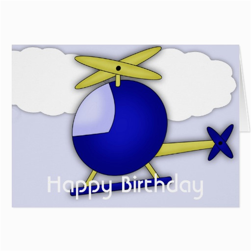 helicopter themed happy birthday greeting card 137268533230291993