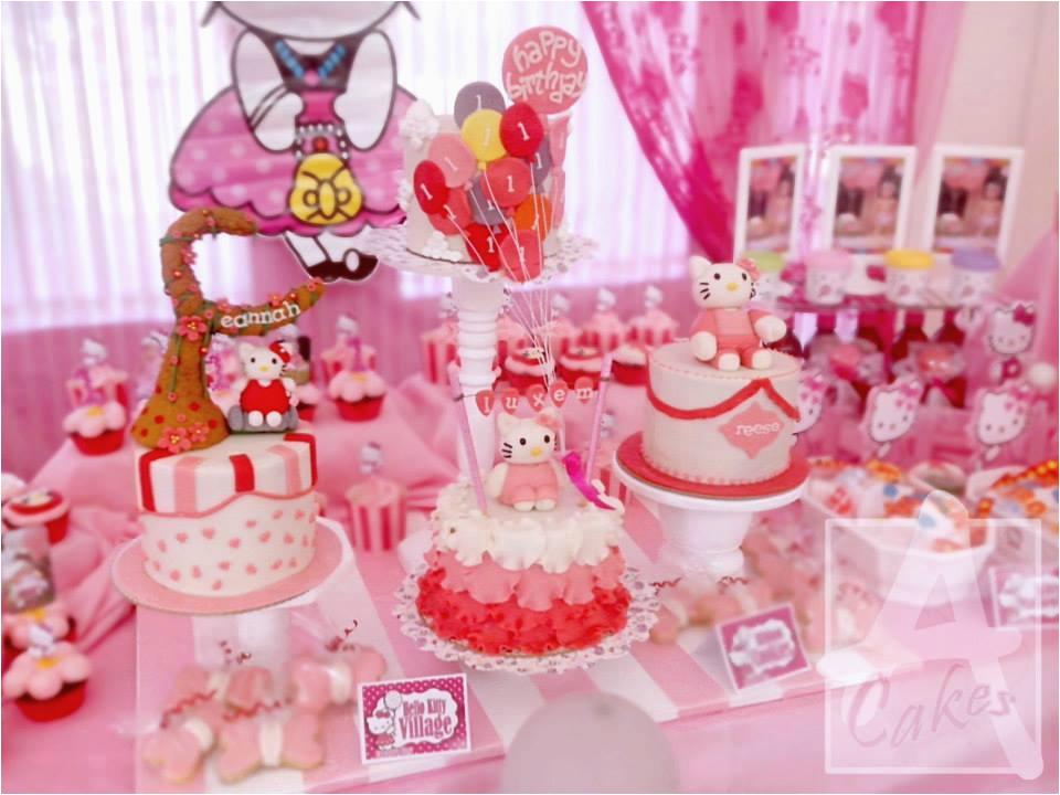 Hello Kitty 1st Birthday Decorations Hello Kitty Theme Party Eannah