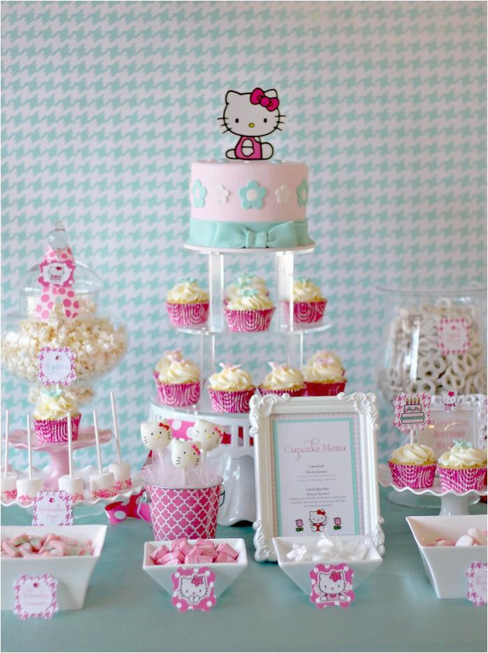 hello kitty birthday party preparations