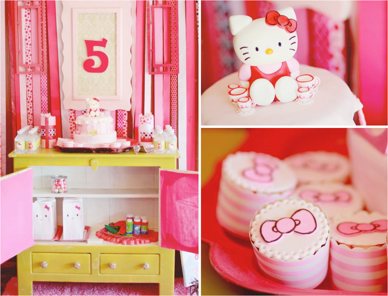 hello kitty 5th birthday tea party