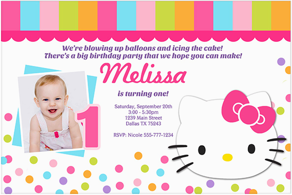 create own hello kitty birthday invitations free ideas