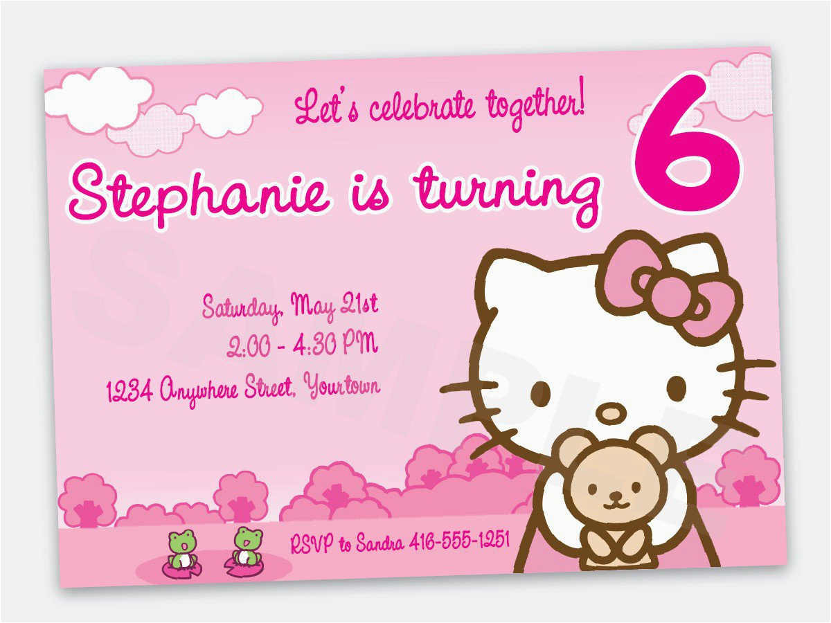hello kitty birthday invitation wording