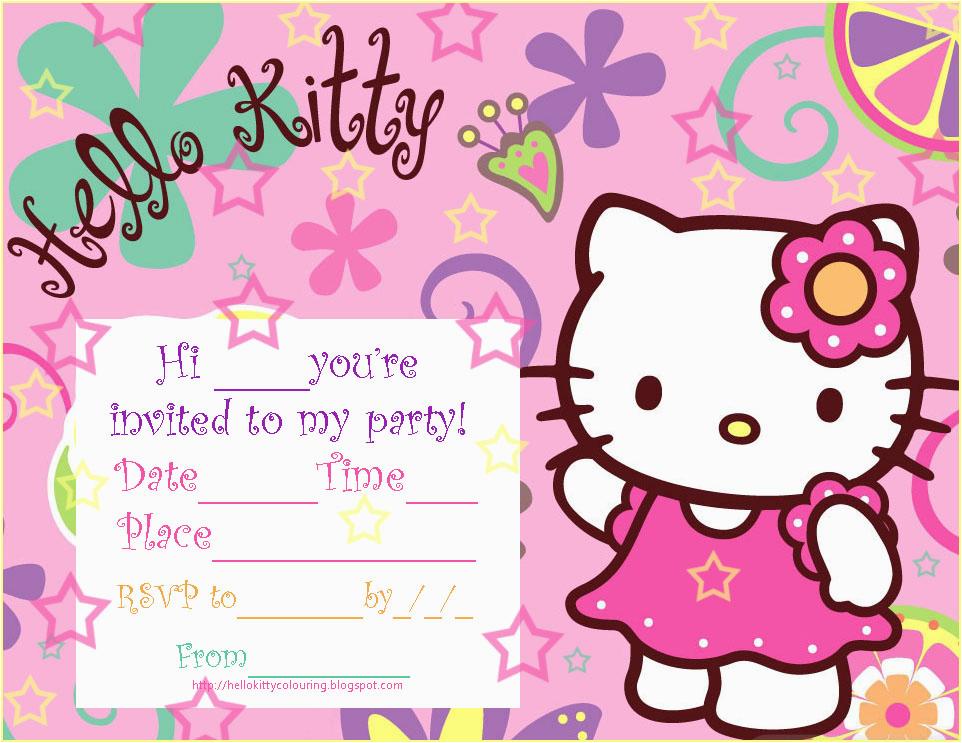 Hello Kitty Birthday Invitation Maker Hello Kitty Birthday