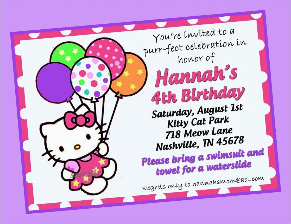 Hello Kitty Birthday Invitation Maker How To Create Invitations Templates