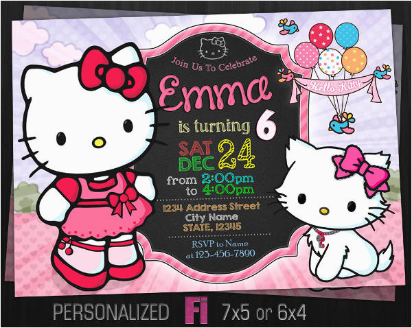 Hello Kitty Birthday Invitations Free Download 8 Photo Designs Templates