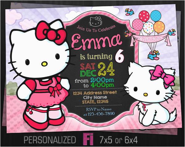 Hello Kitty Birthday Invitations Free Download 8